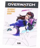 Раскраска Overwatch Adult Coloring Book