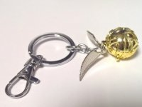 Брелок 3D Harry Potter Golden Snitch (Silver chain)
