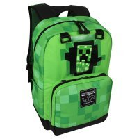 "Рюкзак Майнкрафт - Minecraft Creepy Creeper Kids Backpack (Green, 17"") School"