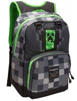 "Рюкзак Майнкрафт - Minecraft Creepy Creeper Kids Backpack (Dark Grey, 17"") School"