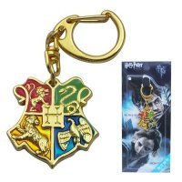 Брелок Harry Potter Hogwarts  Metal KeyChain золотой цвет