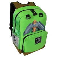 "Рюкзак Майнкрафт - Minecraft Pickaxe Adventure Kids Backpack (Green, 17"") School"